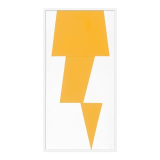 "Large ""Yellow Jagged"" Print by Jason Trotter, 26"" X 51"""