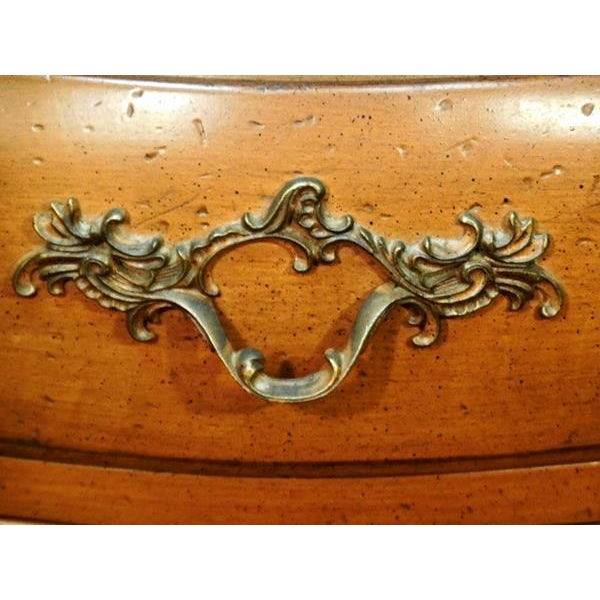 French Provincial Louis XV French Provincial Nightstands- A Pair For Sale - Image 3 of 9