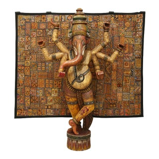 Monumental Indian Ganesh Sculpture, 1970s, India For Sale