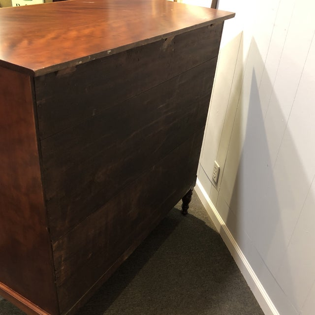 Brown Handmade Cherry Tiger Chest For Sale - Image 8 of 12