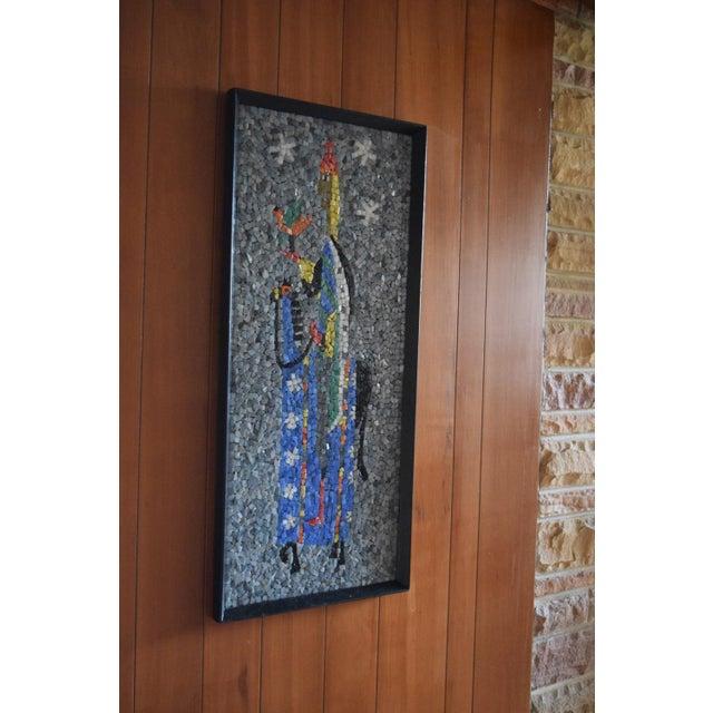 "Mosaic ""Falconer"" California Modern Mosaic Panel For Sale - Image 7 of 7"