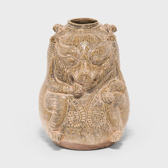 Early 20th Century Chinese Twin Mythical Jar For Sale In Chicago - Image 6 of 6