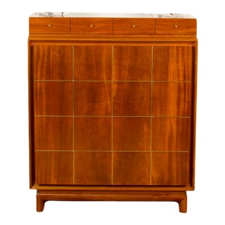 1960s Mid-Century Modern American of Martinsville Walnut Chest For Sale