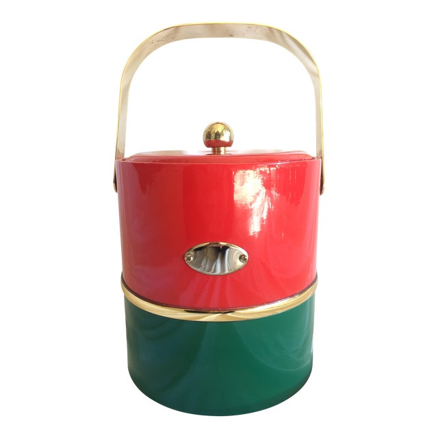 Georges Briard Holiday Ice Bucket For Sale