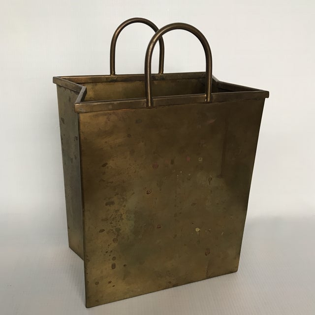 Small Vintage Brass Shopping Bag - Image 10 of 10