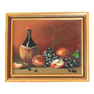 Vintage Framed Miniature Still Life Painting For Sale