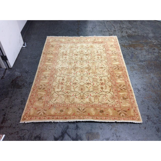 Red & Tan Floral Pattern Area Rug - 8' X 6' - Image 3 of 8
