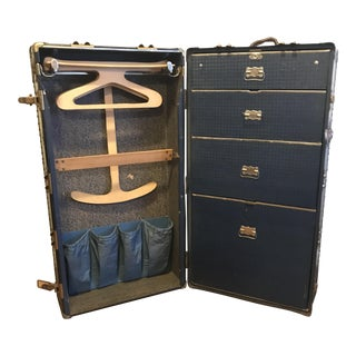 1940s Atkinson Steamer Wardrobe Trunk