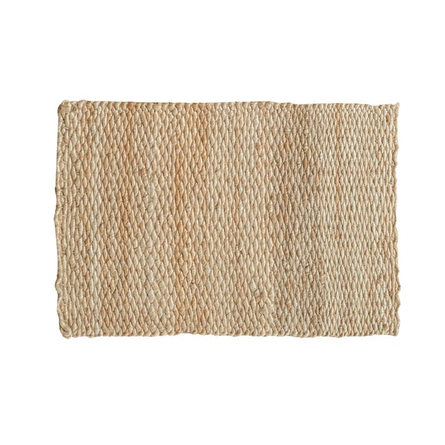 """Hand Braided Ivory Entrance Mat - 2'2"""" X 3'2"""" - Image 1 of 2"""