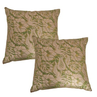 Pair of Antique Fortuny Pillows by b.viz Designs