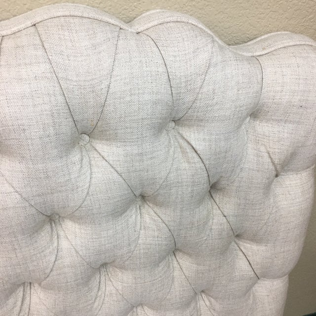 Tufted Linen Full Size Headboard - Image 4 of 6