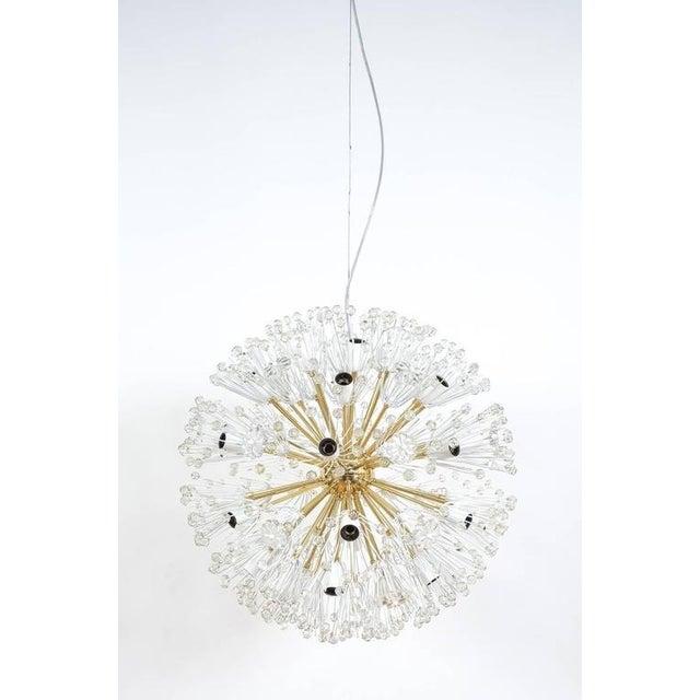 Brass Refurbished Pair Of Large Emil Stejnar Starburst Chandeliers Lamps For Sale - Image 7 of 9