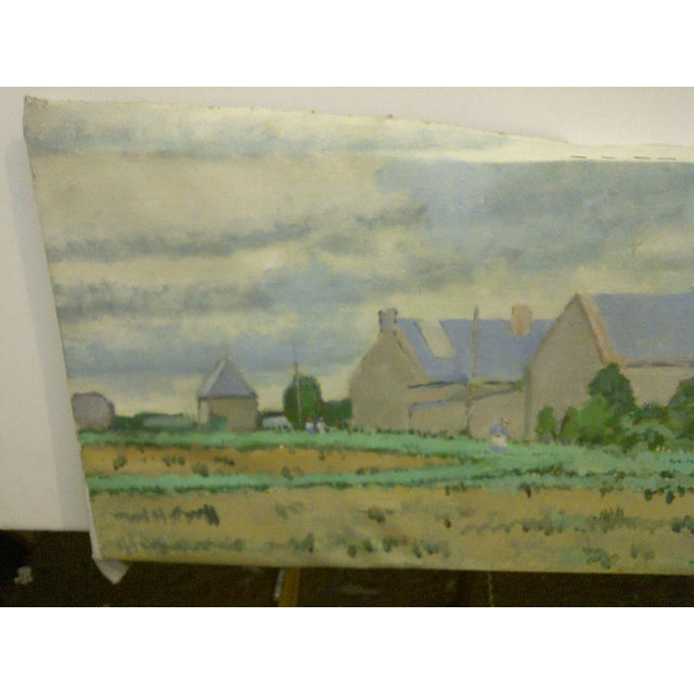 "Original Fred McDuff Painting ""Tending the Field"" For Sale - Image 4 of 7"