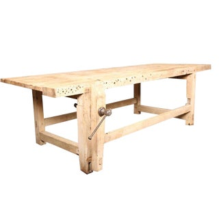 Carpenter's Workbench Island For Sale