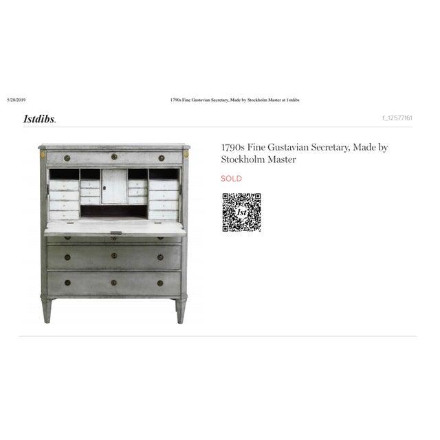 Gustavian (Swedish) 1790s Gustavian Secretary Desk For Sale - Image 3 of 5