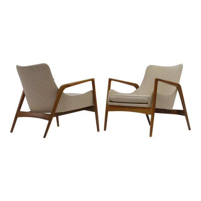 Pair of Lounge Chairs by Ib Kofod Larsen For Sale