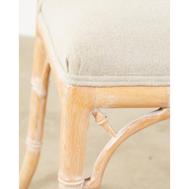 Faux Bamboo Chinese Chippendale Dining Chairs - Set of 3 For Sale - Image 10 of 13