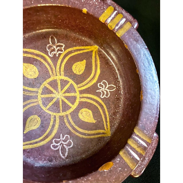 1950s Mid-Century Spanish Alfaraz Pottery Catchall For Sale - Image 5 of 7
