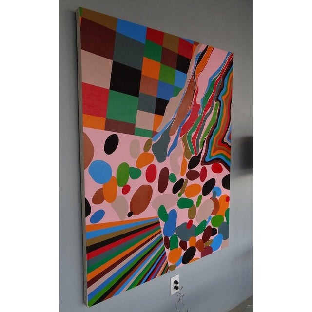 Eric Hibit Large Painting on Board For Sale - Image 4 of 6