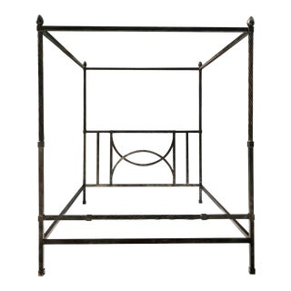 Modern California King Custom Canopy Metal Bed Frame For Sale