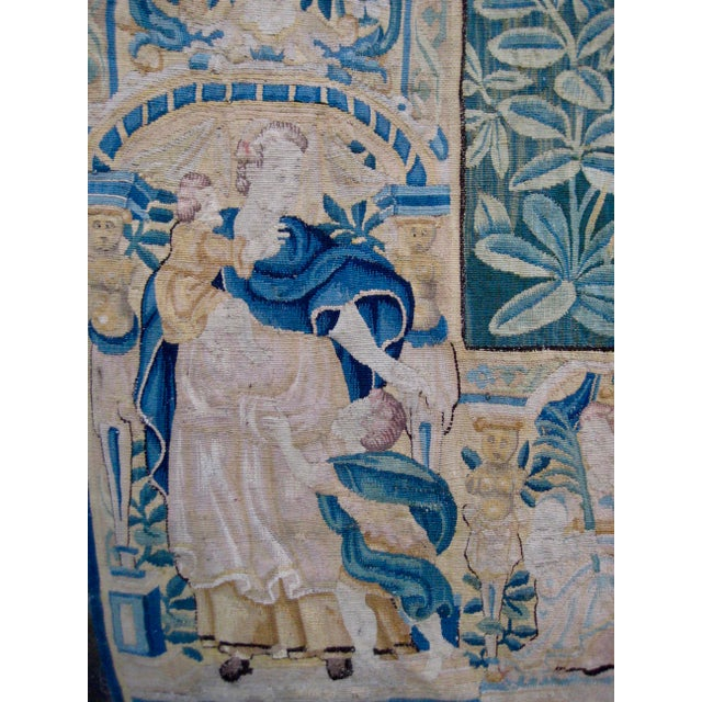 Large 16th Century Flemish Tapestry Wall Hanging For Sale - Image 11 of 13