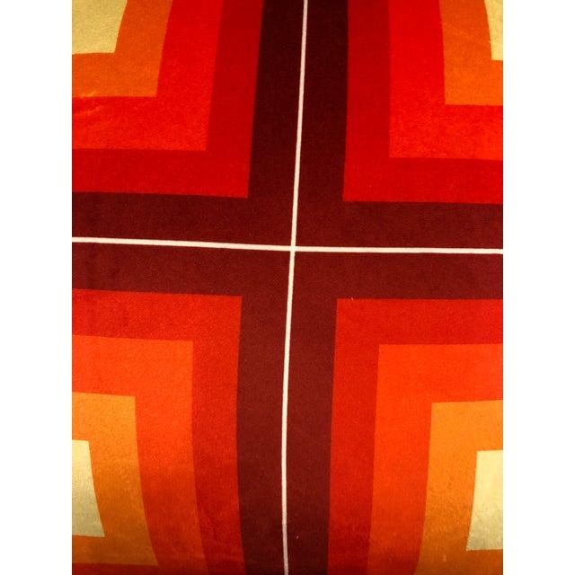Not Yet Made - Made To Order Contemporary Handmade Orange Velvet Geometric Pillow For Sale - Image 5 of 8