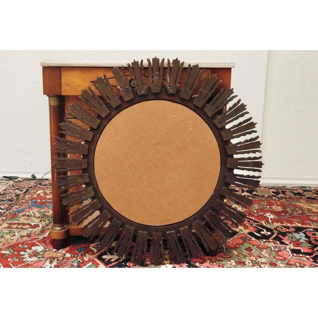1970s Mid Century Gilt Sunburst Mirror For Sale - Image 5 of 6