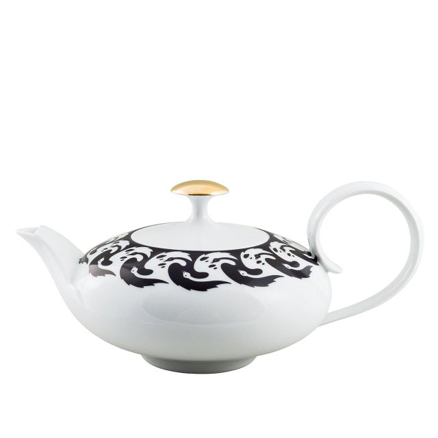 """Not Yet Made - Made To Order """"Vogelkolonie"""" Tea Pot Gold by Koloman Moser & Ena Rottenberg For Sale - Image 5 of 5"""