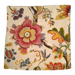 Red & Yellow Floral Pillow Cover