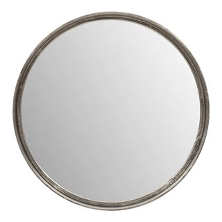 Samar Round Mirror, Vintage Silver For Sale