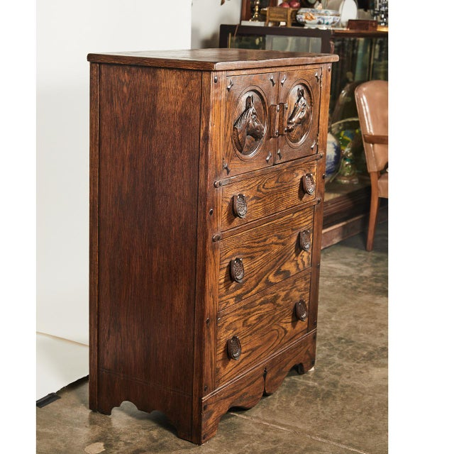 Horse Motif Cabinet For Sale - Image 4 of 9