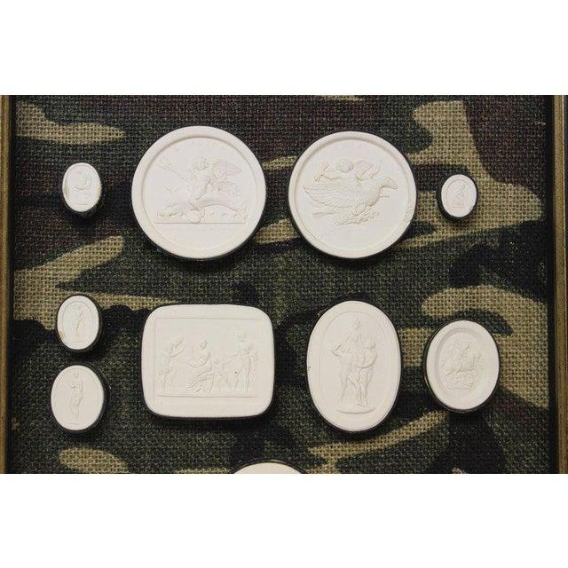 Antique Plaster Framed Camouflage Intaglios - Set of 2 For Sale - Image 4 of 8