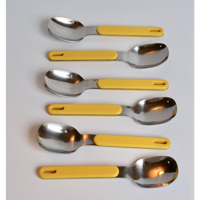 Mod Yellow Flatware - Set of 23 For Sale In Seattle - Image 6 of 8