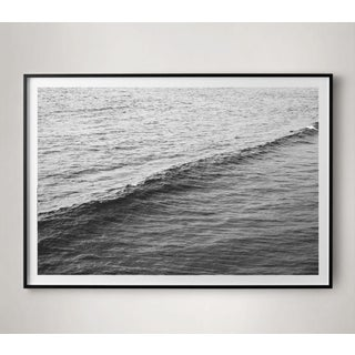 Black and White Ocean Wave Photograph Preview
