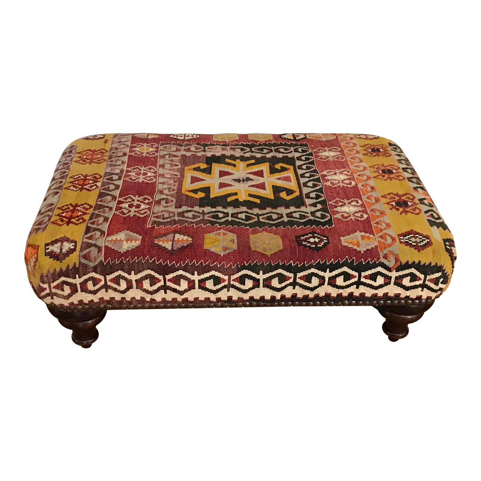 Peachy George Smith Kilim Ottoman Andrewgaddart Wooden Chair Designs For Living Room Andrewgaddartcom