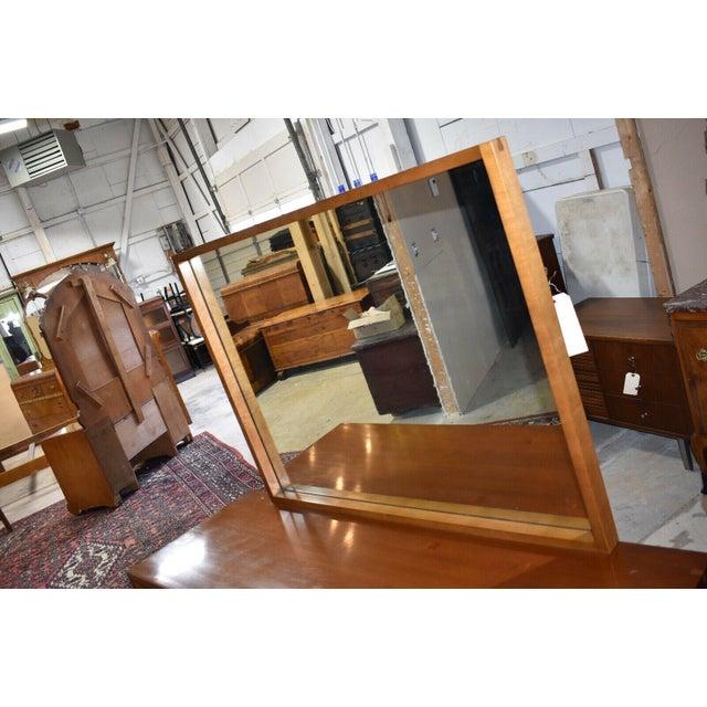 Mid 20th Century 1952 Heritage Henredon Mid Century Cherry Dresser and Mirror For Sale - Image 5 of 11