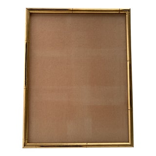 Vintage Gold Faux Bamboo Picture Frame For Sale