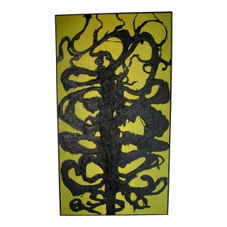 """Greg Kaiser """"Tar Man"""" Painting on Board, Signed For Sale"""