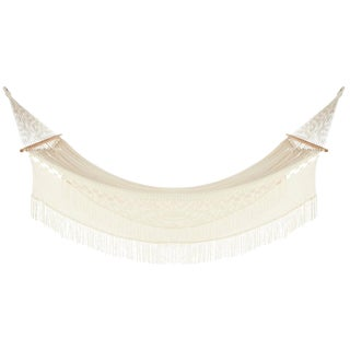 Reina Hammock in Natural Creme With Walnut Rods For Sale