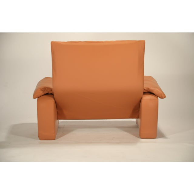 1970s Vintage Giovanni Offredi for Saporiti Lounge Chair and Ottoman For Sale In Los Angeles - Image 6 of 13