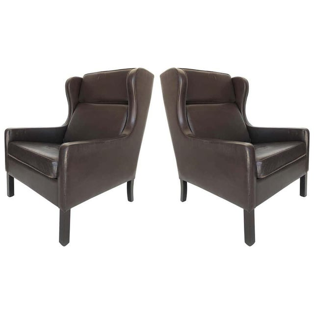 modern leather wing chairs