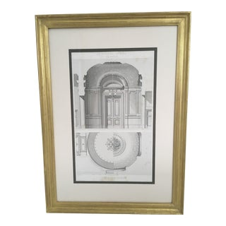 Mid 19th Century French Engraving of Paris Opera House, Framed For Sale