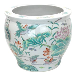 Vintage Chinese Jardiniere Planter For Sale