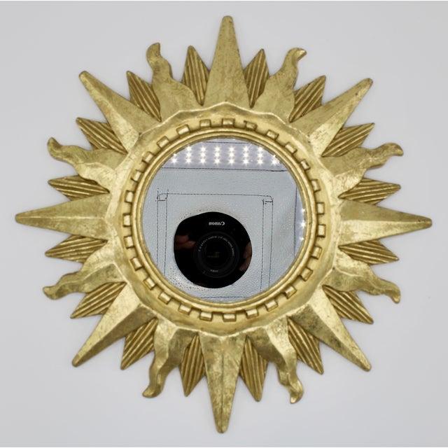 Mid Century Modern Gold Sunburst Mirror For Sale - Image 12 of 13