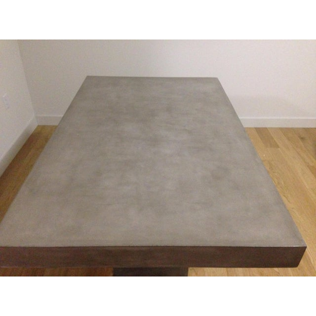 CB Fuze Concrete Dining Table Chairish - Cb2 concrete dining table
