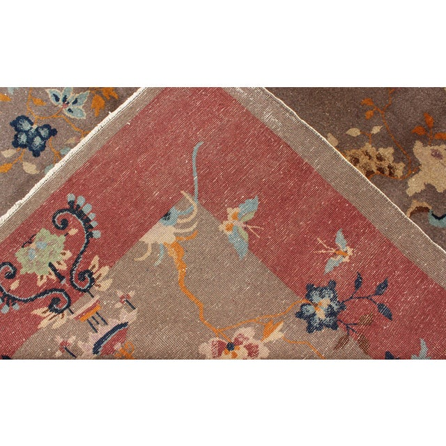 1920s Vintage Chinese Art Deco Rug - 9′ × 11′8″ For Sale - Image 10 of 11