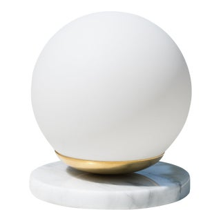 Artifact Accent Light in Carrara Marble by Object Refinery For Sale