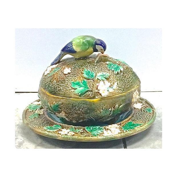 Antique George Jones Majolica Muffin Dish For Sale - Image 13 of 13