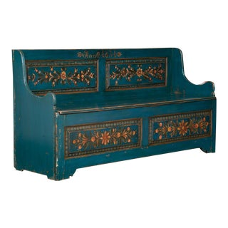 Early 19th Century Antique Swedish Storage Bench For Sale