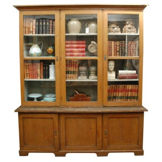 1880s Dutch Painted Bookcase For Sale